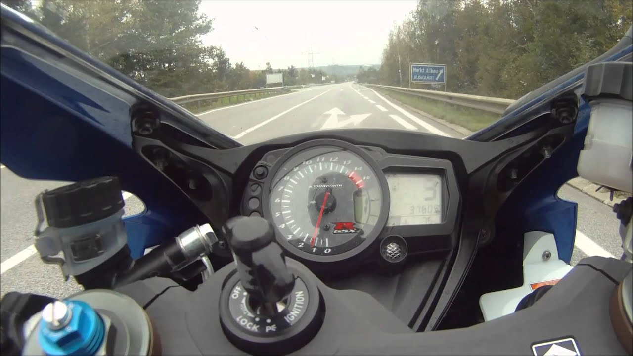 Tv Halterung Suzuki Gsx-r 1000 K7 0-300 Km/h Hd - Youtube