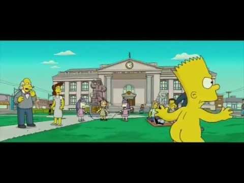 Bart Skating Naked!