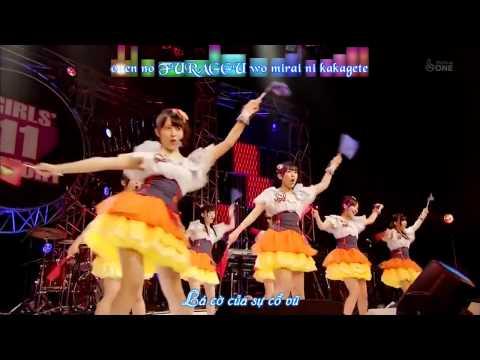 [Vietsub + Kara]Seishun no Flag + Hetappi Wink - Watarirouka Hashiritai 7 (AKB48)