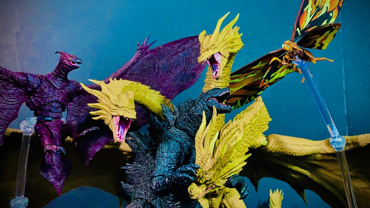 Download Godzilla vs king ghidorah vs mothra vs rodan epic battle stop motion