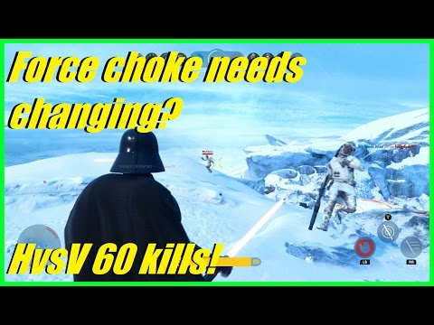 Star Wars Battlefront - Does Vader's force choke need changing? | 60 kills HvsV (Darth Vader)