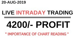LIVE INTRADAY TRADING|| 20 AUGUST 2019||