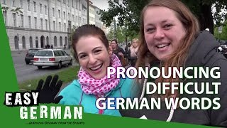 Dana tries to pronounce difficult German words | Easy German 88