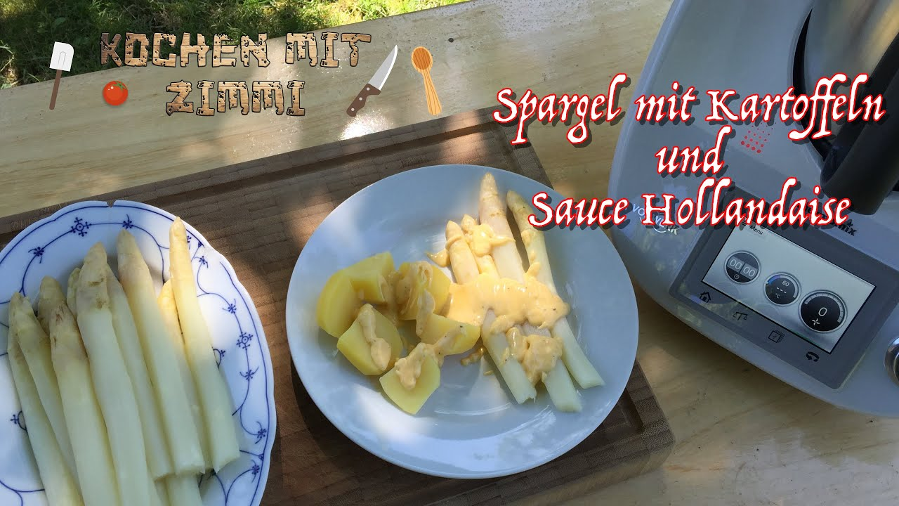 thermomix rezept spargel mit kartoffeln und sauce hollandaise youtube. Black Bedroom Furniture Sets. Home Design Ideas