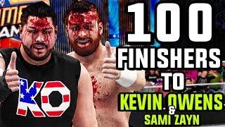 WWE 2K18 - 100 Finishers To Kevin Owens & Sami Zayn!