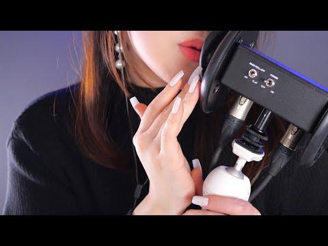 ASMR Up Close Tickling Trigger Words👂💘 (English, Fast, 4K)