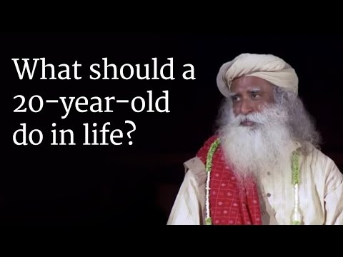 What should a 20-year-old do in life? - Sadhguru answers a Student in a Darshan at Isha Yoga Center