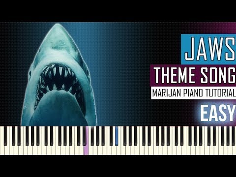 How To Play: Jaws - Theme Song | Piano Tutorial EASY