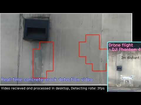 Real-time Concrete Crack Detection Using UAV and Deep Learning