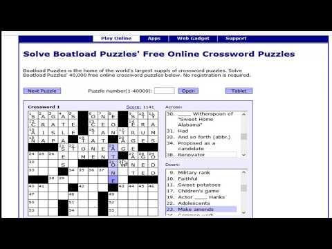 Boatload Free Crosswords Puzzles
