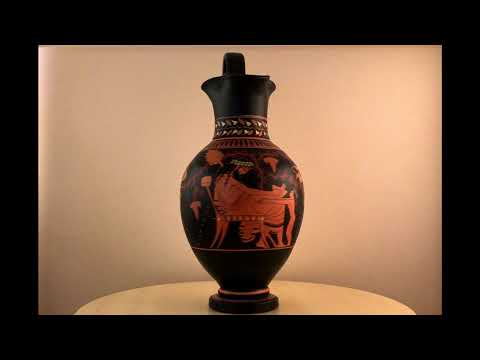 Ancient Greek Pottery - Red Figure Vase with Dionysus