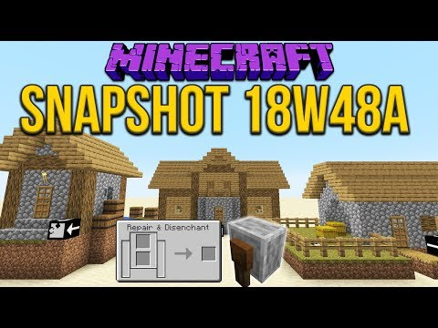 Minecraft 1.14 Snapshot 18w48a New Villages & Grindstone Functionality!