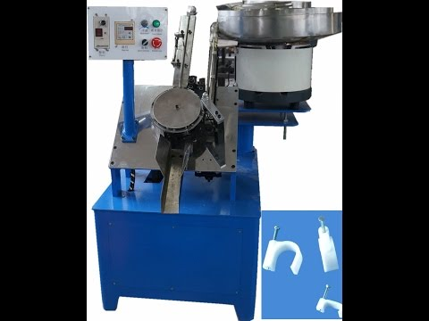 cable clip and nail assembly machine, cable clip nail inserting machine, nail insertion machine