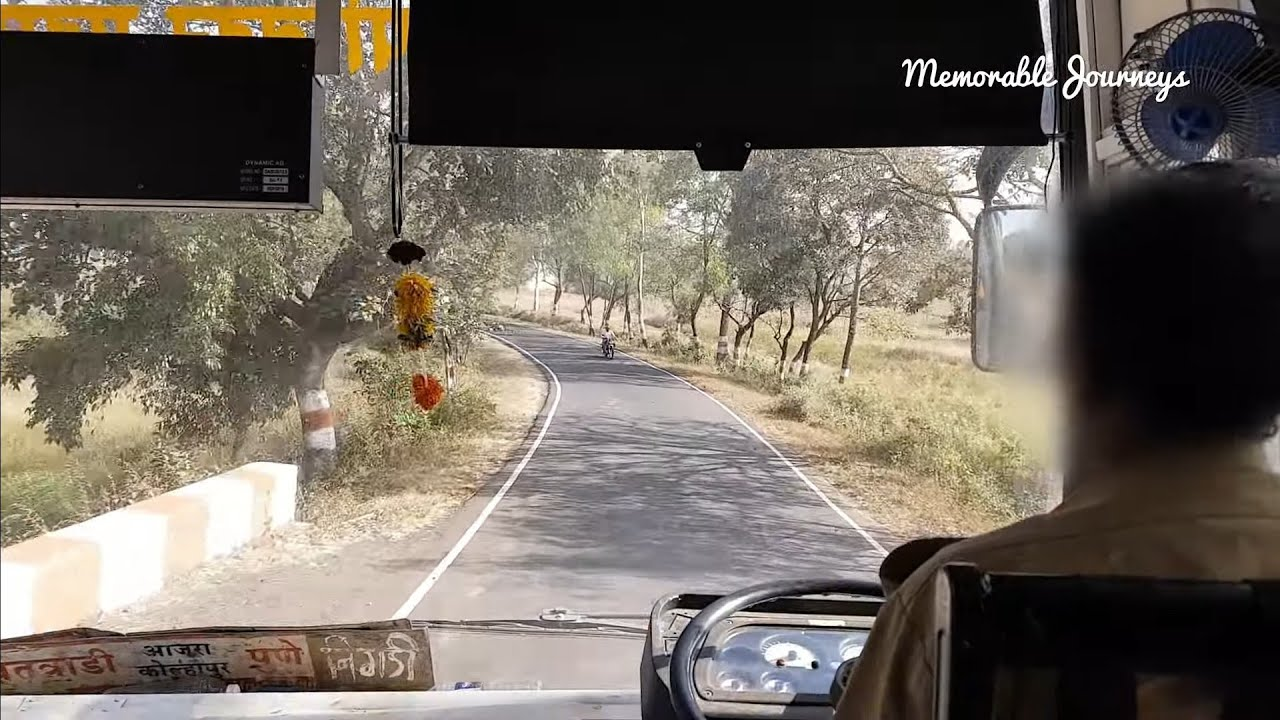MSRTC leyland bus struggles to climb in 1st gear - Sawantwadi to Pune via Amboli ghat