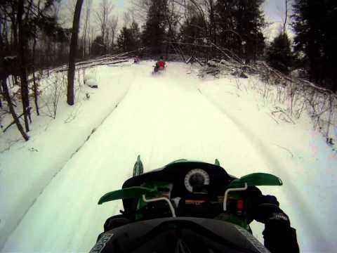 Enchanted Mountains snowmobile Club trails - 2/15/14