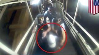 米イリノイ州の地下鉄駅構内を歩いていたイスラム教徒の女性が、地元警...