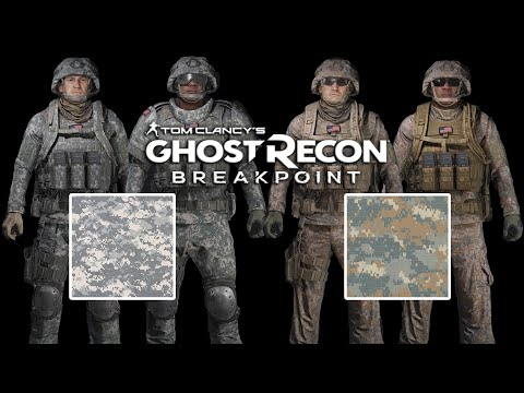 US Army Universial Camouflage Pattern   Army Combat Uniform   2005-2019   Ghost Recon Breakpoint
