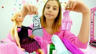 Барби - игры одевалки для девочек. Платье для куклы
