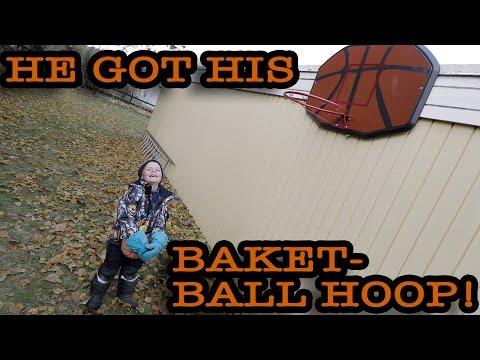 HE GOT THE BASKETBALL HOOP!