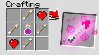 Making *NEW* LOVE ARROWS In Minecraft..