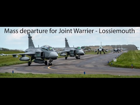 The 3pm massed departure at RAF Lossiemouth - JW 14