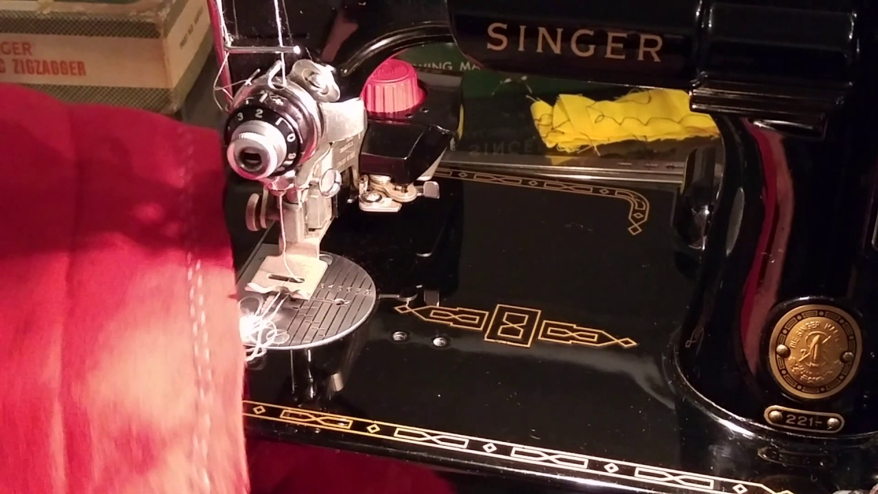How To Use Singer Automatic Zigzagger Attachment Youtube 221 K Sewing Machine Threading Diagram