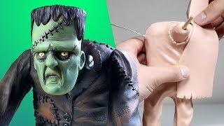 My BIGGEST Sculpture Yet! Making FRANKENSTEIN! - Subscriber Request No. 10 - Sculpting Process
