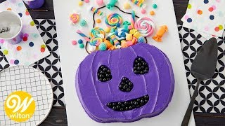 How to Make a Halloween Trick or Treat Candy Bucket Cake | Wilton