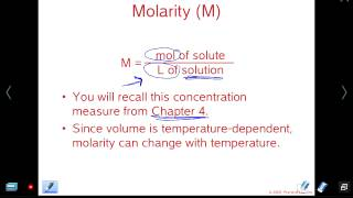 Mr Z AP Chemistry Chapter 13 lesson 2: Molarity, Molality, Mass Percent, PPM, Mole Fraction