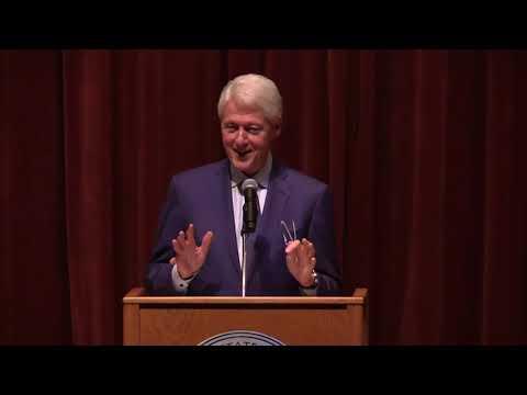 President Bill Clinton speaks at Riceland Hall on Monday, Feb. 11, 2019
