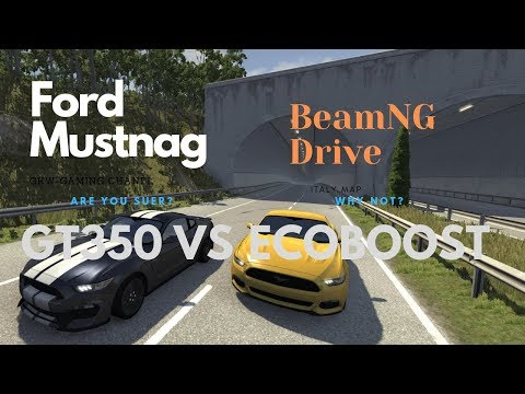 [BeamNG Drive] Ford Mustang EcoBoost vs GT