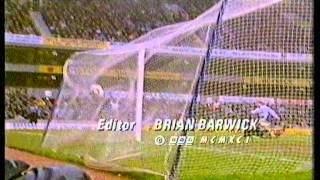 1991 Match of the Day end credits, BBC continuity and Gulf War news