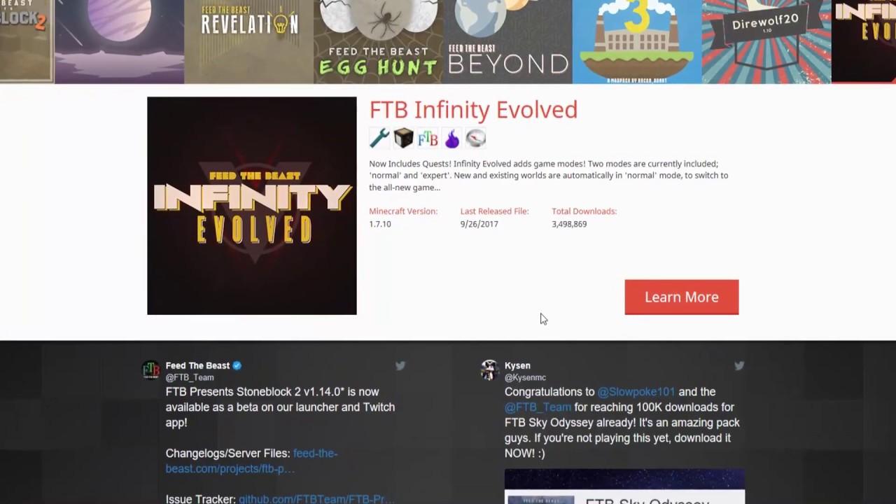 Install 'FTB: Infinity Evolved' with MultiMC (Windows)