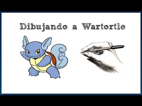 Dibujando a Wartortle / Pokémon #008 - YouTube