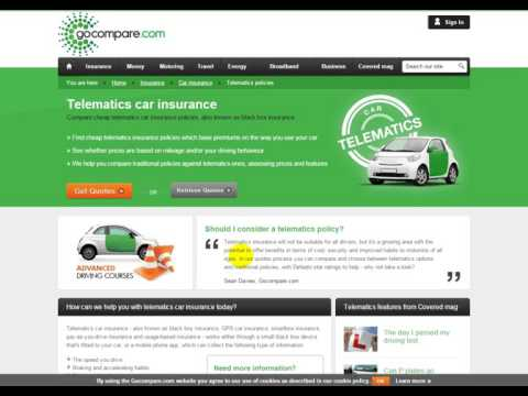 Compare cheap telematics car insurance policies, also known as black box insurance