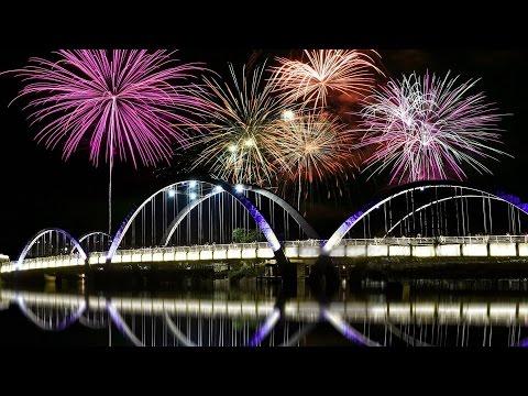 Fireworks & Laser Show At Hatirjheel/ হাতিরঝিল 2016 (Dhaka, Bangladesh)