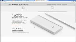 Tricks to buy Mi Power Bank on flashsale from Mi India