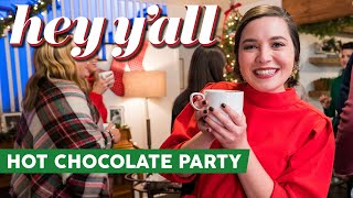 The Ultimate Hot Chocolate Party | Hot Chocolate Charcuterie Board & Homemade Brownies | Hey Y'all