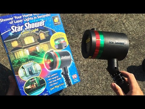 Star Shower Review Laser Light Christmas Lights