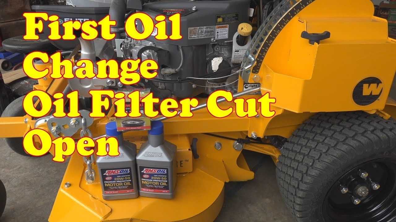 2019 wright 36i stander first oil change and cut open the filter [ 1280 x 720 Pixel ]