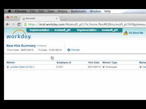 Workday to ServiceNow Integration Demo