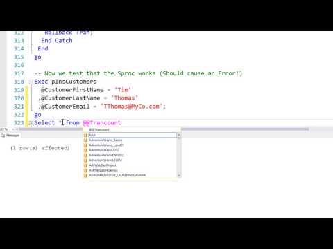 Stored Procedures-05 Stored Procedures With Error Handling