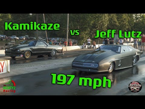 Street Outlaws Juff Lutz vs Kamikaze Chris. Lutz Makes 197mph Pass! Jackson Dragway  (4k video)
