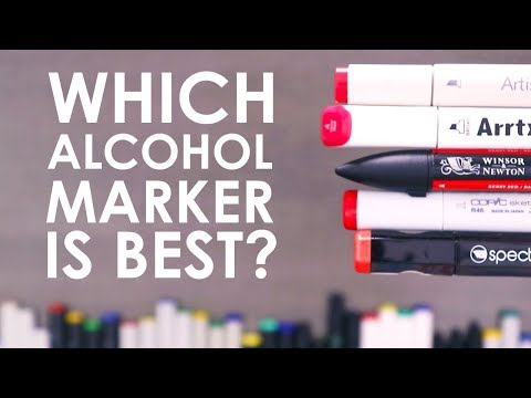 WHICH ALCOHOL MARKER IS BEST?! - Testing 10 Brands Of Markers