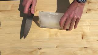 How To Make Shaved Ice Without A Blender Or Machine Using Only A Knife
