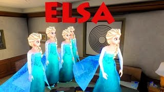 Disney's Frozen Five Little Elsa Jumping on The Bed Nursery Rhyme for children in 3D