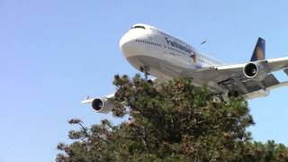 lufthansa fanhansa 747 400 d abvs landing in toronto on rwy 23