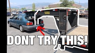 CAN A SMALL CAR PULL A 45FT GOOSENECK TRAILER??