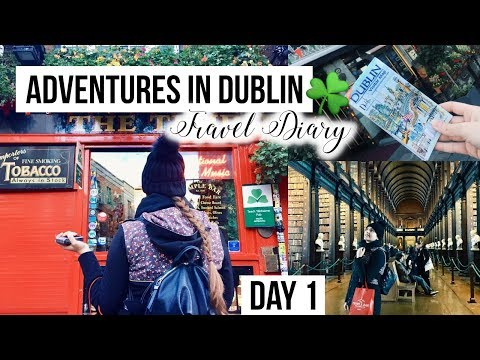 Travel Adventures in Ireland: Dublin DAY 1 🇮🇪☘️❤️ Sightseeing & Cute Coffee Shops ☕️