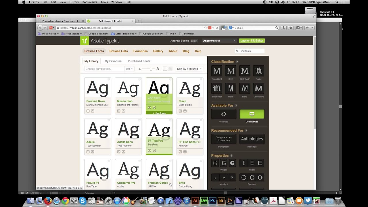 how to add typekit fonts to photoshop